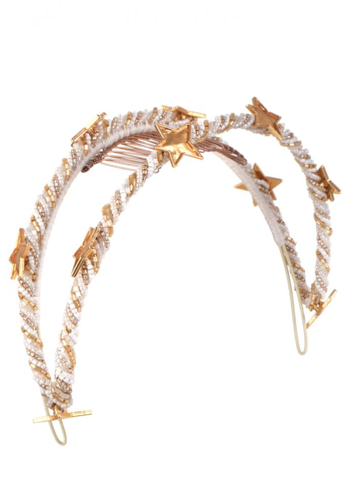 Amanyara-white-gold-headpiece-emilylondon-hats-london