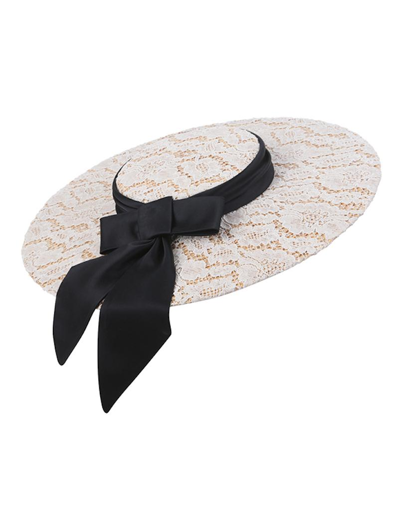 couture wide-brimmed hat