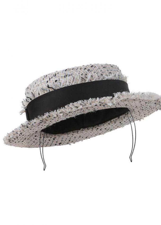 boater tweed hat