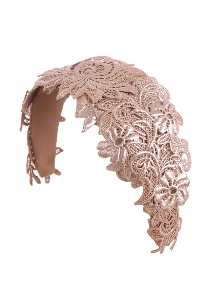 Rose gold headpiece metallic motif headband