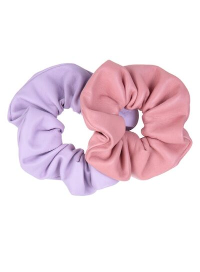 Cindy leather scrunchies