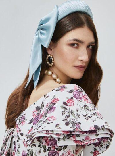 Azzurra headpiece & bow